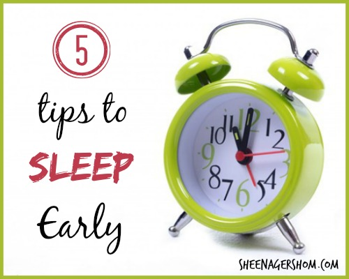 5 Tips to Sleep Early