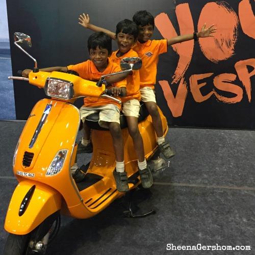 Posing in orange!